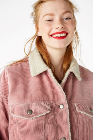 Faux shearling corduroy jacket 60 euros